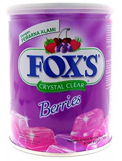 Леденцы Nestle Fox's Crystal Clear Mix Berries Flavored Candy