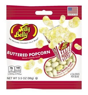 Драже Jelly Belly Buttered Popcorn, 80гр