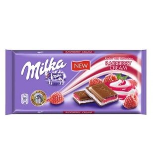 Шоколад Milka Raspberry Cream, 100гр