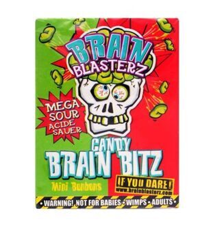 Кислые драже Brain Blasterz Candy Brain Bitz, 45гр