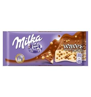 Шоколад Milka Waves Cookies, 81гр