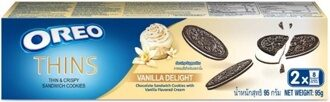 Oreo Thin&Crispy Sandwich Cookies Vanilla Delight 95g