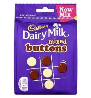 Конфеты Cadbury Mixed Buttons, 119гр