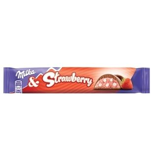 Шоколад Milka & Strawberry, 36гр
